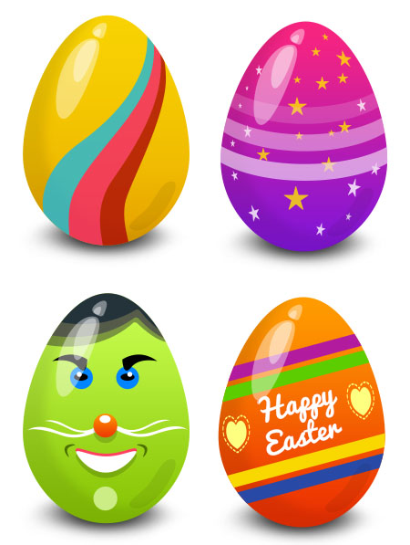 Vector Easter Eggs for Photoshop