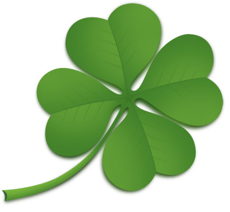 Green 4 Leaf Clover Icon