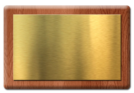 Gold Metal Nameplate Template (PSD)