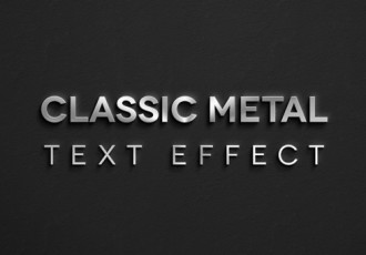 Metal Style Text Effect For Photoshop
