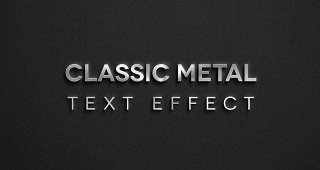 Classic Metal Text Effect