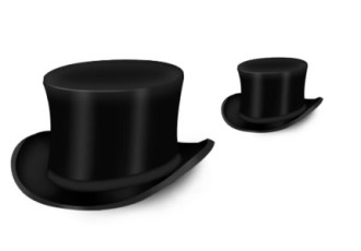 Top Hat Icon (PSD)
