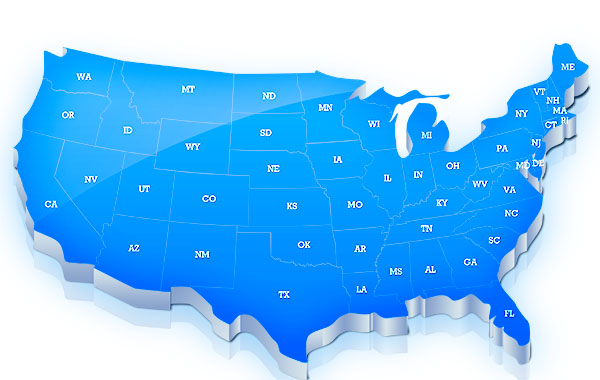 USA Map Template For Photoshop - Us map high resolution