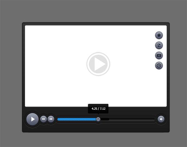 Video Player Skin Templates Psd