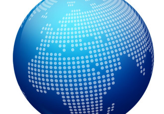 Blue Globe Icon Vector