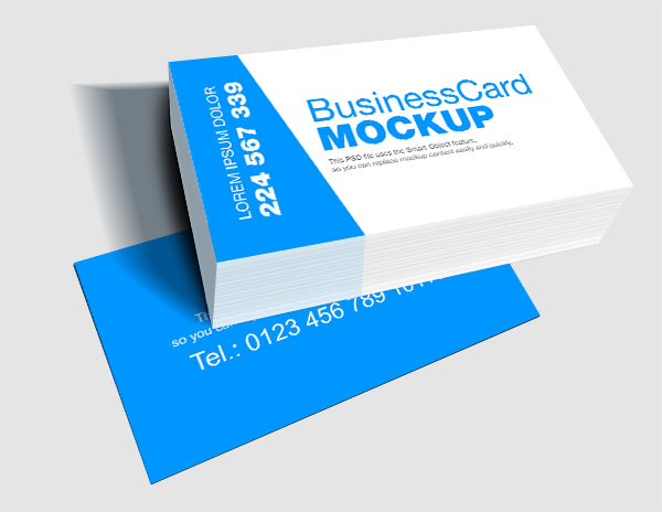 Blue white business card template psd cheaphphosting