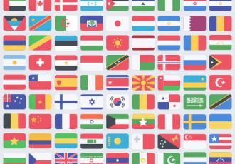 Flat World Flag Icon Set (PSD)