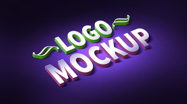 3D Logo Text Mockup