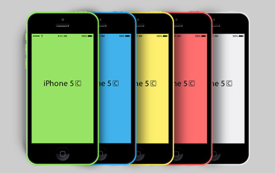 A set of five iPhone 5c Templates. The PSD file include all iPhone 5c colors and are fully editable so creating custom colors are a snap.