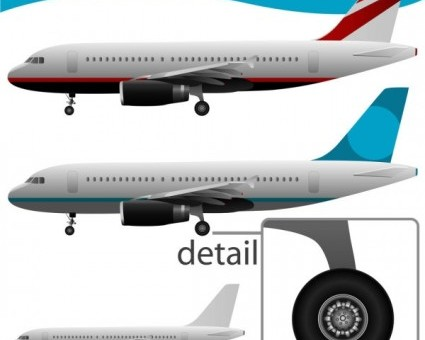 Airplane Vector Stock