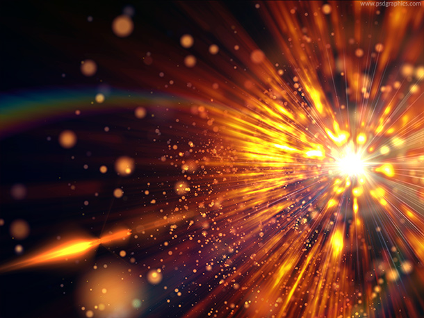 Explosive Space Abstract Background