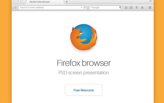 Firefox Web Browser Mockup Template