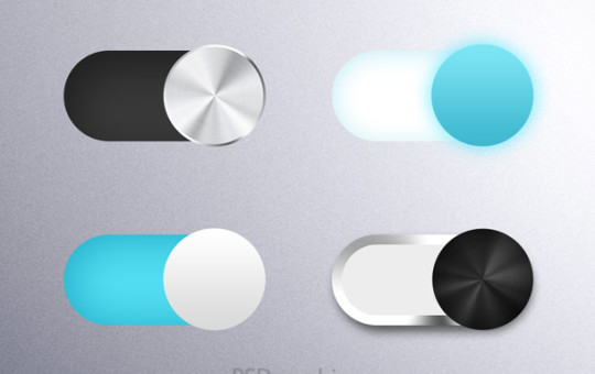 Toggle Slider Button Switches (PSD)