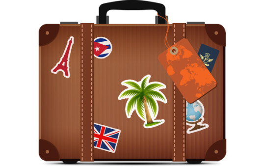 Suitcase Travel Icon PSD