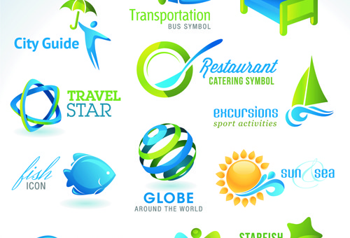 Vector Travel Icons EPS