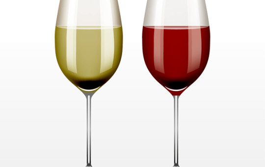 Vector White & Red Wine Glasses