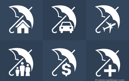 Insurance Icon Vector Set