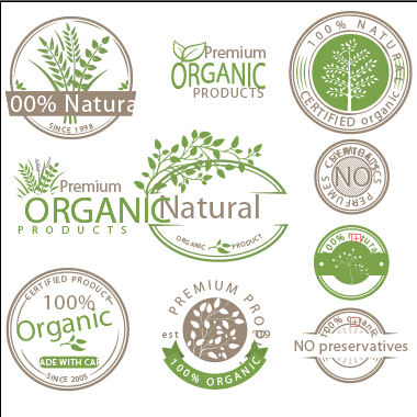 All Natural Organic product labels