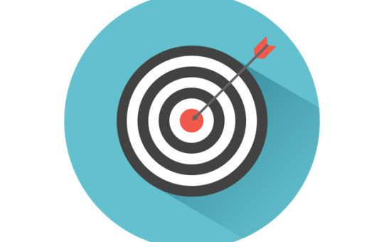 Bullseye Arrow & Target Graphic
