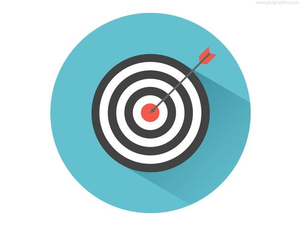 Bullseye Target & Arrow