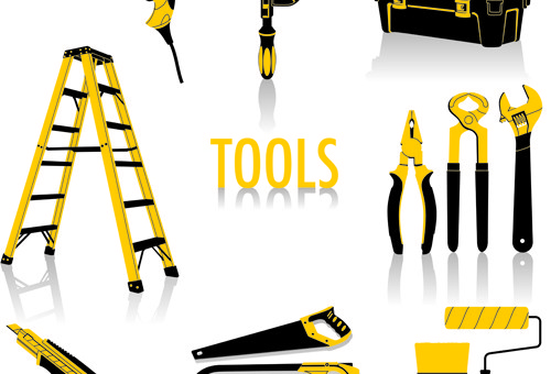 Construction Tool Vector Graphic Set