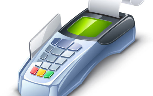 Credit Card Machine Vector Graphic