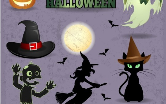 Halloween Vector Graphic Set