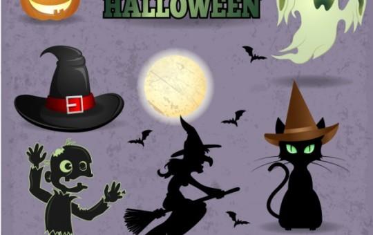 Halloween Vector Graphic Set