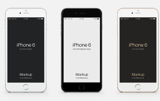 iPhone 6 Plus Editable Template Mockup