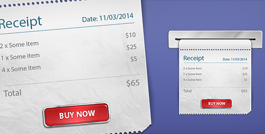 Receipt Template For Photoshop