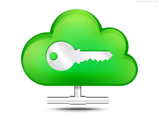 secure cloud storage icon