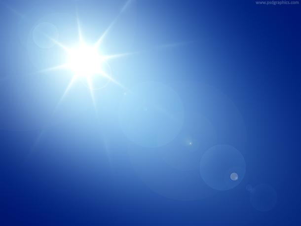 Blue Sky & Sun Flare