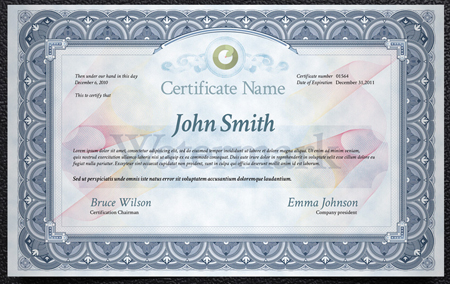 Certificate Template For Photoshop