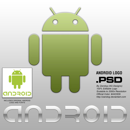High Resolution Android Logo and Font