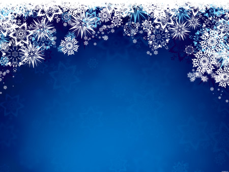 Blue Winter Snowflake Background