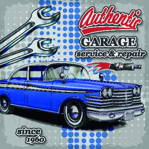 Vintage Auto Repair Sign Poster